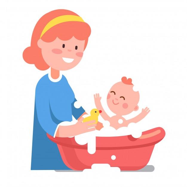 trẻ sơ sinh cần tắm ngày mấy lần là đủ