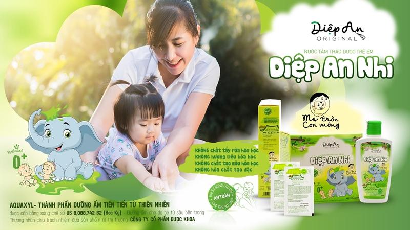 Diệp An Nhi – Sữa tắm trị chàm sữa và viêm da cơ địa cho bé