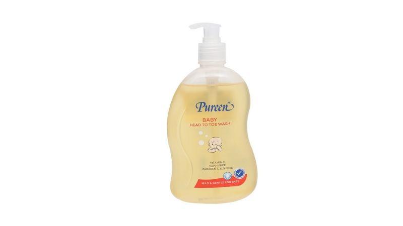 Sữa tắm Pureen cho trẻ sơ sinh dưỡng ẩm với B5 và vitamin E