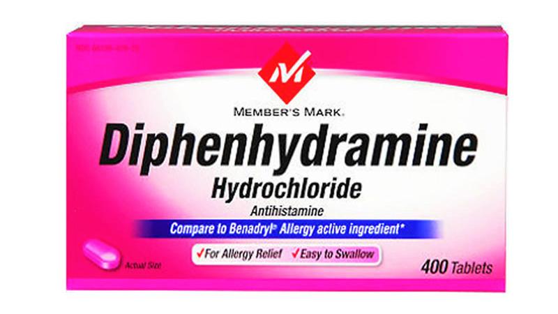 Thuốc trị ngứa Diphenhydramine (thuốc chỉ mang tính chất tham khảo)