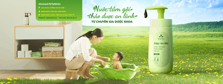 Lựa chọn nước tắm gội thảo dược Diệp An Nhi để chăm sóc da bé